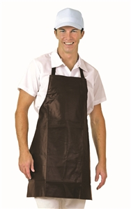 BVT-Chef Revival Dark Brown Vinyl 25 in. x 38 in. Bib Apron