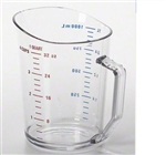 Cambro Plastic Measuring One Cup Clear 1 Quart