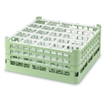 Vollrath Extra Tall 25 Compartment Glass Rack Light Green