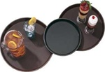 Cambro Round Plastic Brown Non Slip Tray 11 in.
