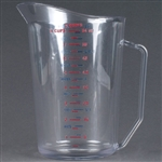 Cambro Plastic Measuring One Cup Clear 2 Quart