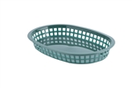 Tablecraft Chicago Plastic Oval Platter Baskets Forest Green - 10.5 in. x 7 in. x 1.5 in.