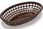 Tablecraft  Plastic Oval Baskets Brown - 9.38 in. x 6 in. x 1.88 in.