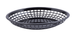 Tablecraft Jumbo Oval Baskets Black- 11.7 in. x 8.7 in. x 1.7 in.