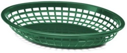 Tablecraft Jumbo Oval Baskets Forest Green - 11.7 in. x 8.7 in. x 1.7 in.