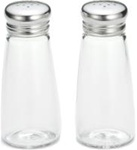 Tablecraft Round Glass Top Salt and Pepper Smooth Shaker 3 Oz.