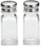 Tablecraft Square With Mush Top Salt and Pepper Shaker 2 Oz.