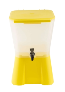 Tablecraft Plastic Beverage Dispenser Yellow - 3 Gal.