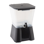 Tablecraft Plastic Beverage Dispenser Black - 3 Gal.