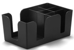Tablecraft Double Bar Organizer - Black