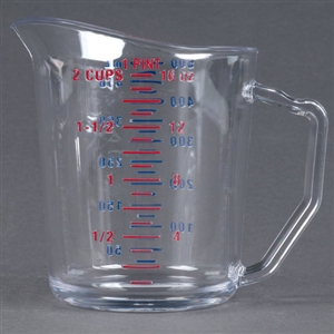 Cambro Plastic Measuring Cup Clear One Pint
