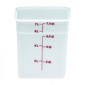 Cambro Plastic Square Container White 8 Quart