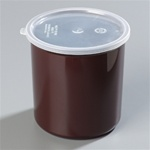 Carlisle Plastic With Lid Crock Reddish Brown 2.7 Qt.