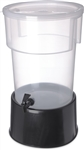 Carlisle Round With Base Dispenser Black 5 Gal.