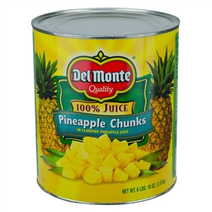 Del Monte Pineapple Juice In Chunks Packed