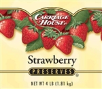 Carriage House Preserves Strawberry Glass 4 Lb.