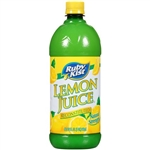 Clement Pappas Lemon Juice Plastic Bottle - 32 Oz.