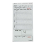 National Checking Carbon Guest Check Paper Green 16 Lines - 4.2 in. x 8.25 in.