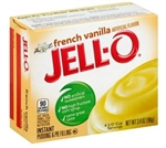 Jello French Vanilla Instant Pudding - 3.4 Oz.
