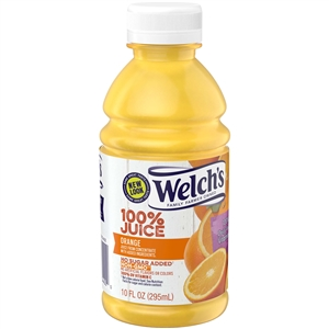 Welchs Plastic100 Percentage Fluid Orange Juice Drink - 10 Oz.
