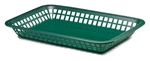 Tablecraft Rectangular Basket Forest Green - 11.75 in. x 8.5 in.