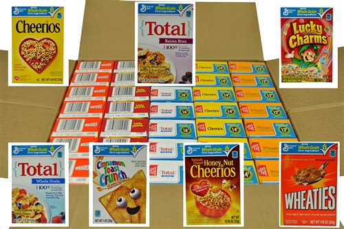 General Mills Family Assorted Cereal Single Pack 0 85 Oz