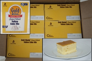 General Mills Supermoist Yellow Cake Mixes - 4.5 Lb.