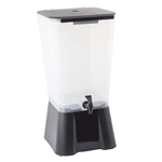 Tablecraft Translucent Beverage Dispenser Black - 5 Gal.