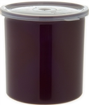 Carlisle Classic With Lid Crock Reddish Brown 1.2 Qt.
