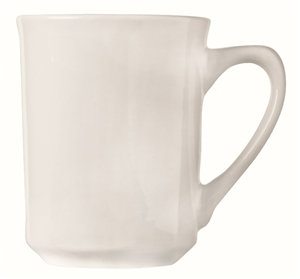 World Tableware Rolled Edge Undecorated Porcelana Mug White - 8.5 Oz.