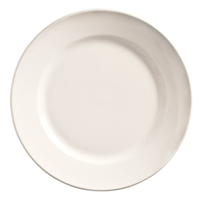World Tableware Rolled Edge Undecorated Porcelana Plate - 7.13 in.