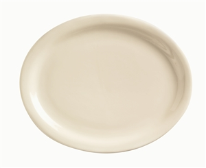 World Tableware Kingsmen Undecorated White Oval Platter 9.5 in.