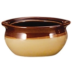 Caramel Beige Onion Soup Crock - 15 oz.