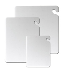San Jamar Cut N Carry Katchall Cutting Board White - 12 in. x 18 in. x 0.5 in.
