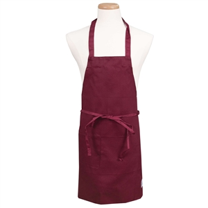 BVT-Chef Revival Burgundy Full Length 30 in. x 34 in. Bib Apron