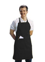 BVT-Chef Revival Black Full Length 30 in. x 34 in. Bib Apron
