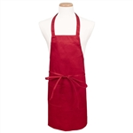 BVT-Chef Revival Red Full Length 30 in. x 34 in. Bib Apron