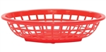 Tablecraft Oval Order Side Basket Red