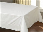 Smith Lee Poly Tissue Table Cover White - 54 in. x 108 in.