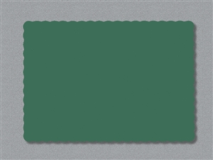 Smith Lee Scallop Edge Placemat Hunter Green 9.75 in. x 13.75 in.