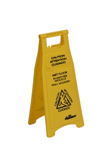 Continental Caution Wet Floor Sign - 26 in.