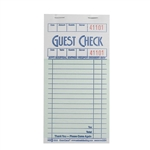 National Checking Guest Check Shrink Wrap Paper Green One Part - 3.5 in. x 6.75 in.