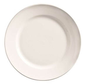 Porcelana Undecorated White Plate - 12 in.