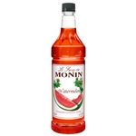 Monin Watermelon Flavor Syrup Pastic Bottle - 1 Liter