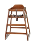 High Chair Assembly Walnut