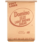 Sugar and Sugar Packets Domino Light Brown Sugar - 50 Lb.