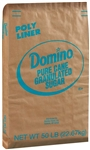 Sugar and Sugar Domino Extra Fine Granules Granulated Sugar 50 Lb.