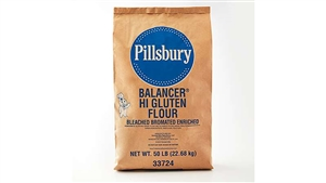 Flour Balancer Bleached High Gluten Pillsbury - 50 Lb.