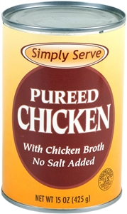 Vanee Foods Simply Serve Chicken Pureed - 15 Oz.