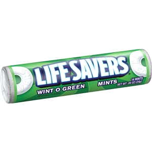 Wrigleys Lifesaver Wintogreen Candy - 0.84 Oz.